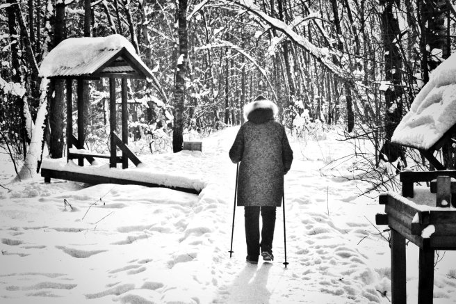 Karda yürüyüş